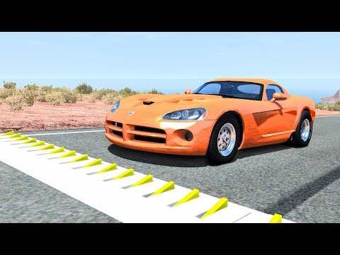 Spike Strip High Speed Crashes #40 – BeamNG Drive