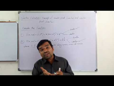 Lecture-1, Vector Analysis: Vector Point Function and Vector Differentiation