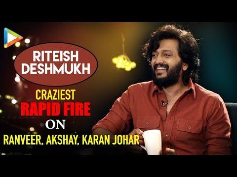 """Ajay Devgn is PRANK MASTER"": Riteish Deshmukh   Total Dhamaal   Rapid Fire"