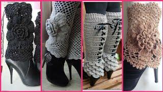 Latest beautiful trendy Crochet leg warmer designs