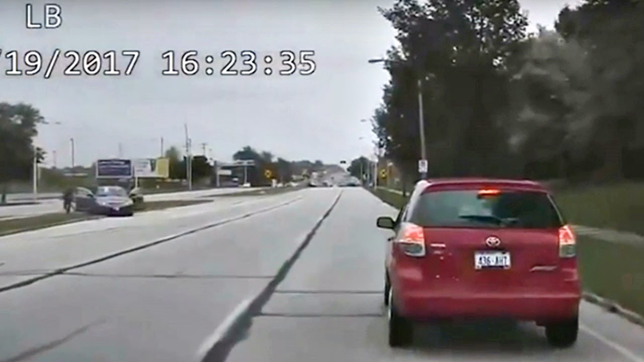 Dashcam Video Shows High-Speed Police Chase