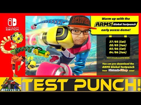 Who's gonna catch these ARMS?! | GLOBAL TEST PUNCH