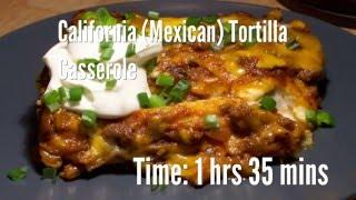California (Mexican) Tortilla Casserole Recipe