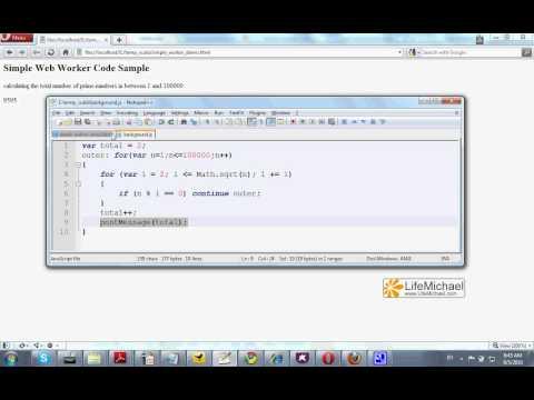 HTML 5 Web Worker Demo
