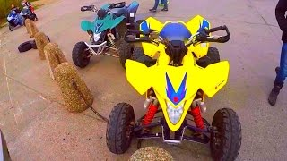 Riding around the city on quad bikes - ATV Suzuki Z400 - Jazda quadami po warszawie