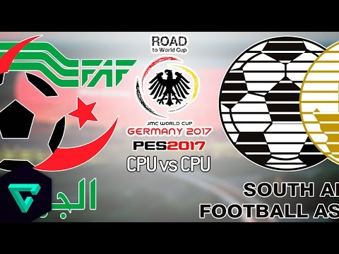 Algeria vs. South Africa | CAF | 1st Leg | Road To World Cup Germany 2017 | PES 2017