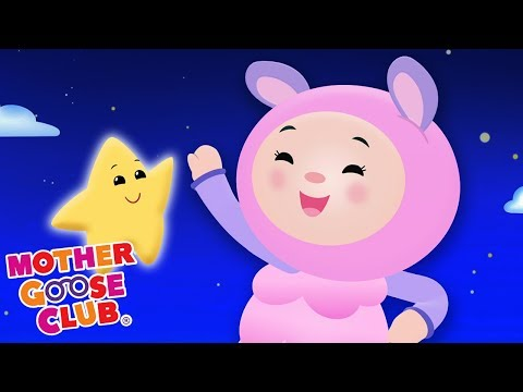 Twinkle Star Song Nursery Rhymes for Children | Baby Plays with Stars | Mother Goose Club Playground