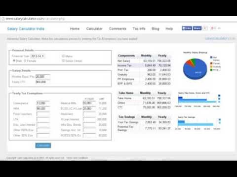 Take Home Salary Calculator India   Quick And Easy Way To Calculate Your  Take Home   YouTube  Salary Calculator