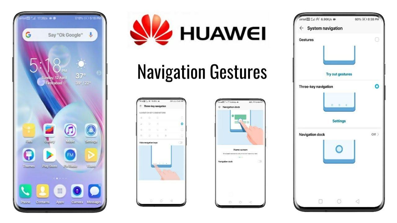 EMUI 9 Navigation Gestures in Huawei Phones | Honor - 9 lite,6x,7x,p20