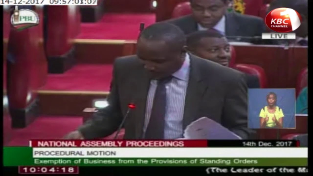John Mbadi was ejected from the house after he defied the speaker's directive