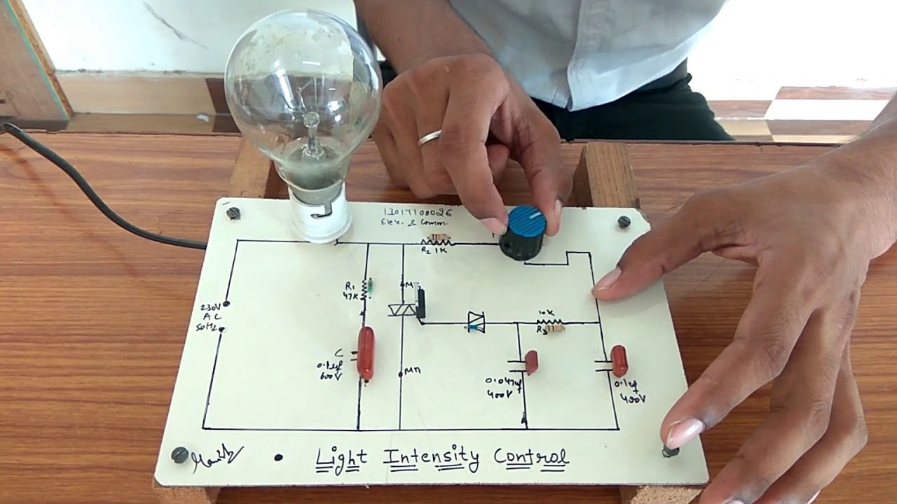 Light Intensity Control Circuit Using Scr Full Demonstration With Automatic Emergency Controlcircuit Diagram Cicuit
