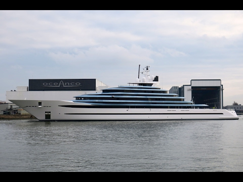 "Oceanco launched Holland's largest yacht today: the 110.1m/ 360'11"" Y714 / Project Jubliee"