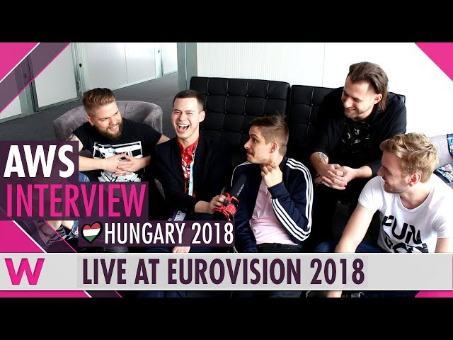 AWS (Hungary) interview  @ Eurovision 2018 | wiwibloggs