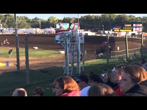 Sprint Car Hot laps at Cedar Lake Speedway!