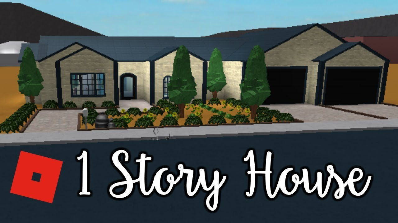 welcome to bloxburg 1 story house speed build - House 1 Story