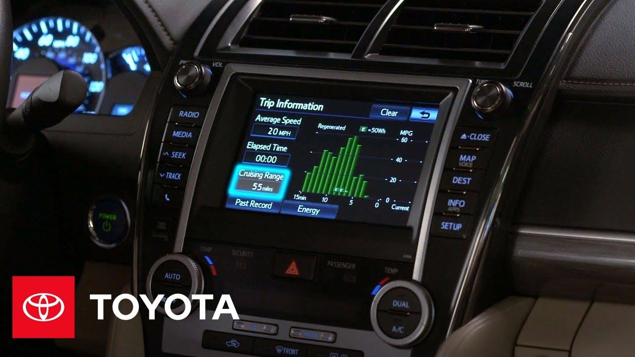 2017 Camry Hybrid How To Audio Navigation Display Vehicle Info Screens Toyota