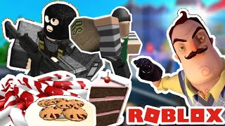 WE GOT CAUGHT ROBBING AT OUR NEIGHBORS HOUSE.. Robbery simulator roblox
