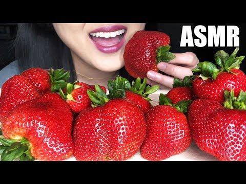 GIANT STRAWBERRIES ASMR FRUIT PLATTER | Juicy Eating Sounds | ASMR Phan