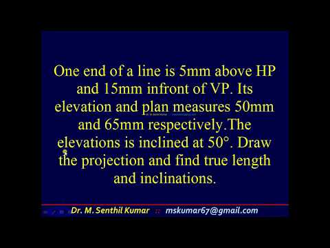 8.20 Projection of Straight Lines Inclined to both HP & VP