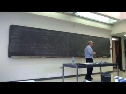 Dan Freed - Invertibility, modularity, and topological field theory - Shanks Workshop, 20111029