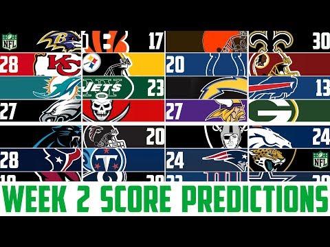 NFL Week 2 SCORE PREDICTIONS 2018 - NFL Picks Against the Spread WEEK 2 (NFL BETTING)