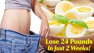 Boiled Egg Diet For Weight Loss - Lose 24 Pounds In Just 2 Weeks! Just Unbelievable!