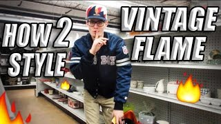 How to Style Vintage Snapbacks, Flannels, Starter Jackets, and Streetwear! Weekly Thrift Fits 14