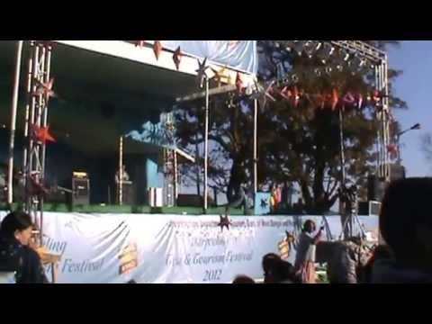 prem lama perfoming at chawrasta darjeeling in tea n tourist festival 2012
