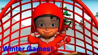 Английский язык для малышей - Мяу-Мяу - Зимние игры (Winter Games) - учим английский(, 2016-08-04T07:57:21.000Z)