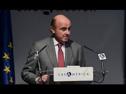 Luis de Guindos y Luis Alberto Moreno en Casa de América