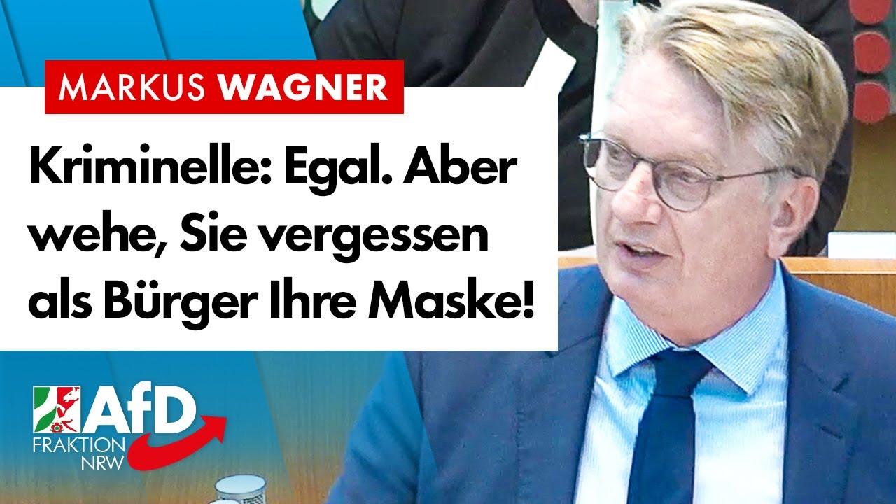 Kriminelle: Egal. Aber wehe, Sie vergessen als Bürger mal Ihre Maske! – Markus Wagner (AfD)