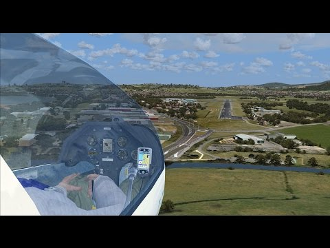 Bathurst to Wollongong cross-country glider racing in FSX