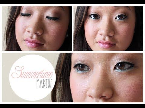 summertime makeup for monolid eyes maquillage d 39 t pour yeux asiatiques youtube. Black Bedroom Furniture Sets. Home Design Ideas