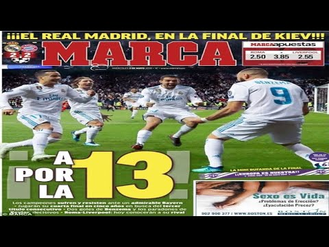 Spanish newspapers celebrate Real Madrid's win over Bayern Munich... but Catalan-based papers