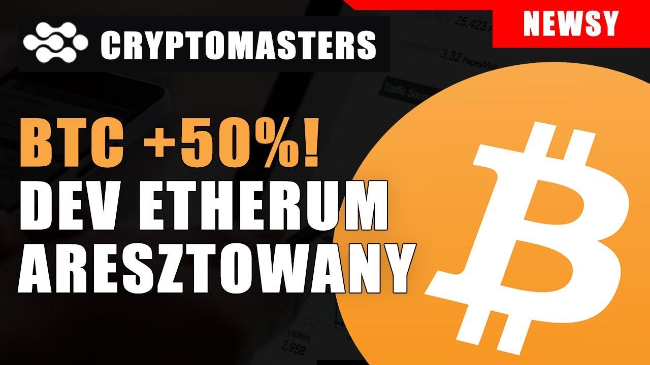 BTC +50%🚀! Dev Etherum aresztowany! Chiny i Kryptowaluty. Blockchain w bankach Ile BTC mają giełdy? 3