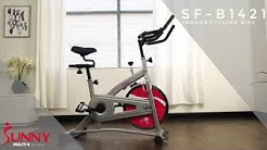 Sunny Health & Fitness SF-B1421 Indoor Cycling Bike with 30 lbs. Chrome Flywheel