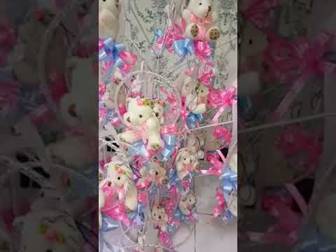 Bunga telur teddy bear gantung
