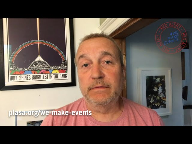 Sound Engineer Simon Honywill Supports #WeMakeEvents