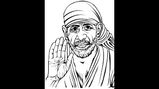 How to draw Sai Baba face pencil drawing step by step