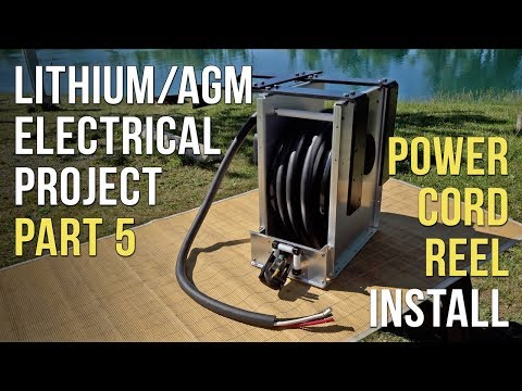 🔌 Battery & Electrical Project — Part 5: Power Cord Reel Installation⚡️