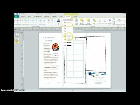 Publisher 2010 - Inserting Tables