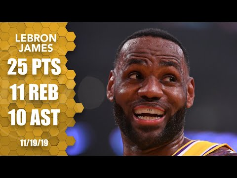 LeBron James makes triple-double history in Lakers vs. Thunder game | 2019-2020 NBA Highlights