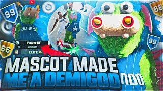 THIS MASCOT MADE ME A DEMIGOD IN NBA 2K19! BEST MASCOT + BUILD! POWER & GRINDING DF DOMINATE PARK!