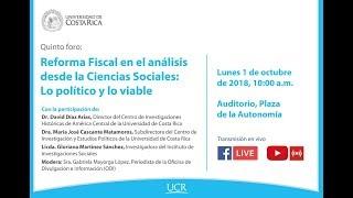 Reforma Fiscal en el análisis desde las Ciencias Sociales: lo político y lo viable. Quinto Foro