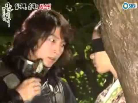 [2008] Han Hyo Joo and Lee Jun Ki Kissing scene BTS on Iljimae
