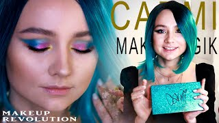 Обзор палетки MAKEUP REVOLUTION Carmi make magic Свотчи Тестинг