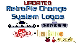 """UPDATED"" RetroPie Change System Logos Mega Drive to Genesis and PC Engine to TurboGrafx-16"