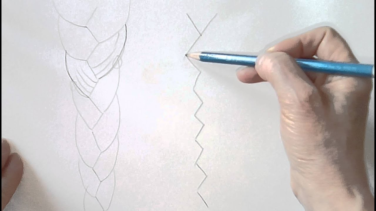 Comment dessiner une tresse sans stress 1 youtube - Comment faire une tresse indienne ...