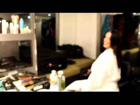 Adriana Lima Gets a Haircut at VS Shoot by Photographer