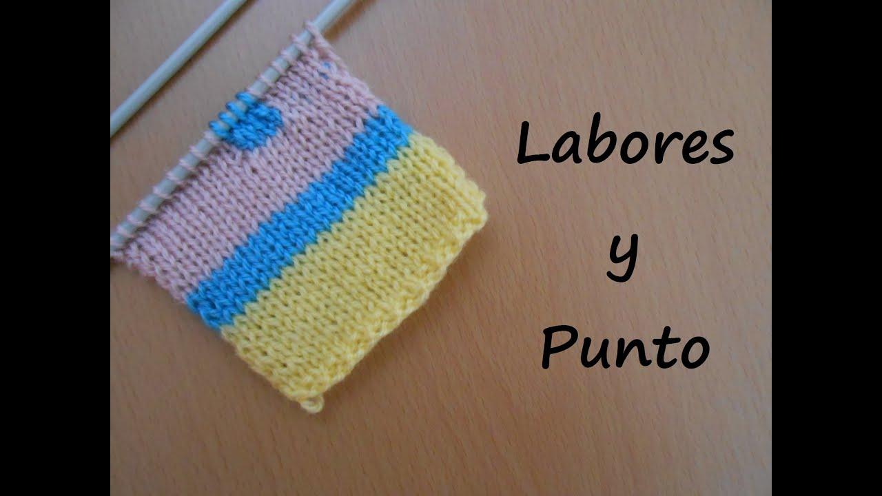 Aprende a cambiar el color de la lana en dos agujas youtube - Puntos de lana a dos agujas ...